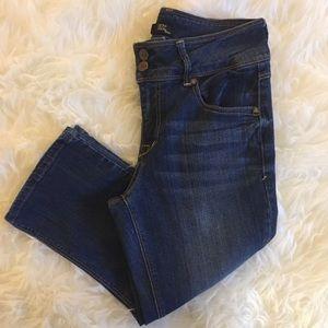 1822 Denim | Double Button Fly, Crop Jean, Size 6